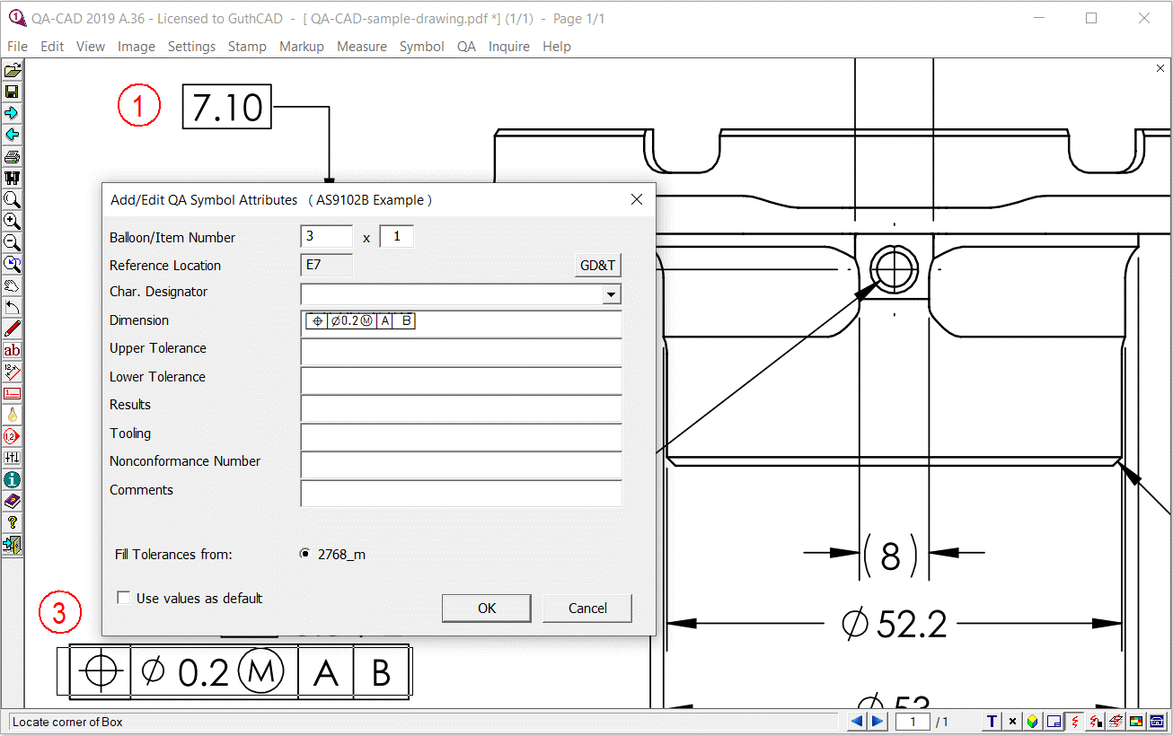 first article inspection software As9102 software by QA-CAD screenshot