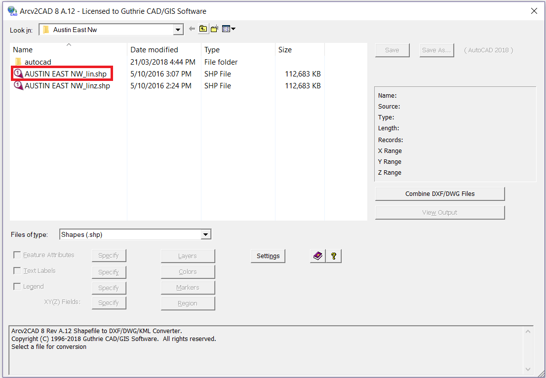 EASY SHP To DWG / DXF Converter for 2019 | Arcv2CAD