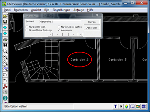 CAD Viewer 2017 Screenshot - Find Text in Drawing.