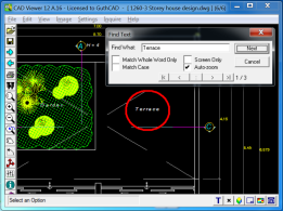 CAD Viewer 4.0 Screenshot - Find Text in Drawing.