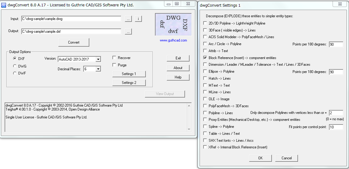 DWG (Batch, Version) Converter for 2019: dwgConvert - DWG to