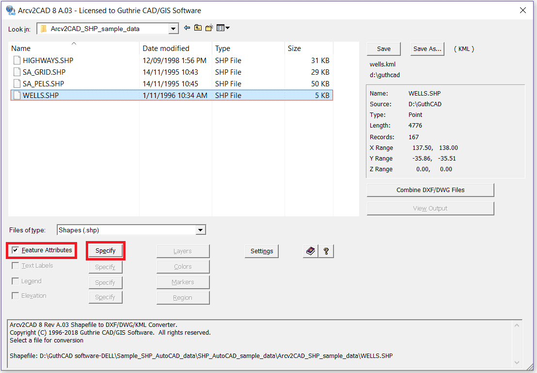 Tick feature attributes