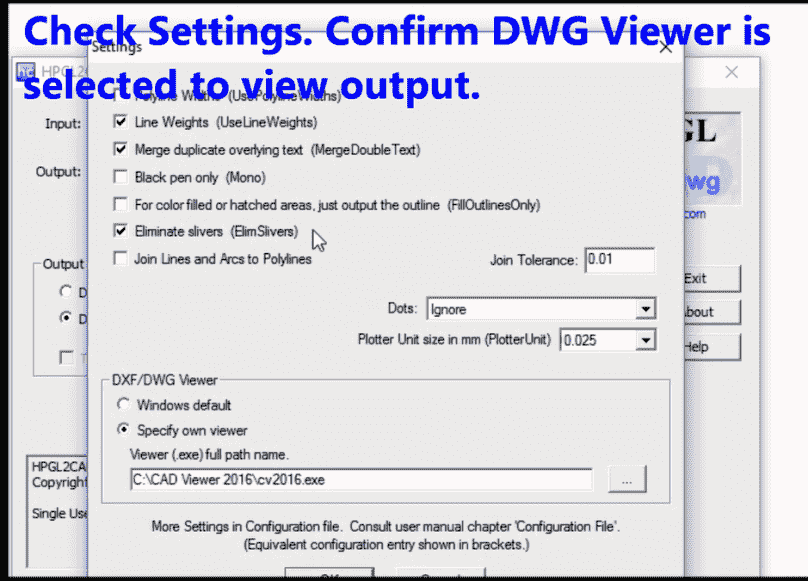 HPGL Viewer and Converter