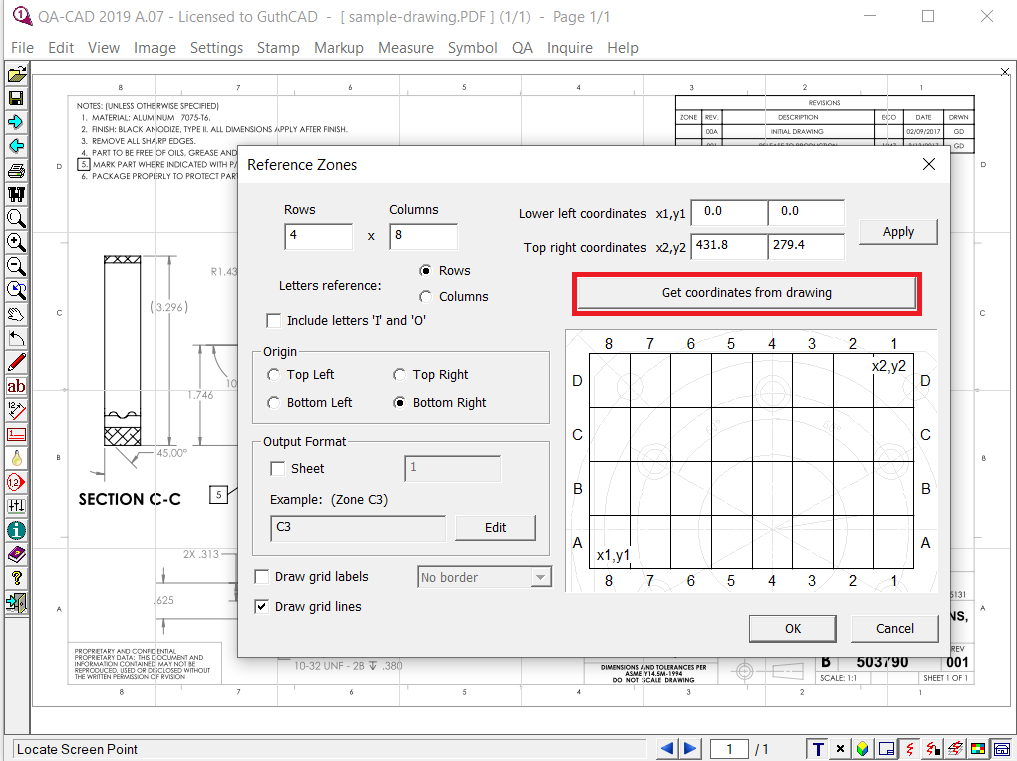 AutoCAD to PDF Converter -file selection