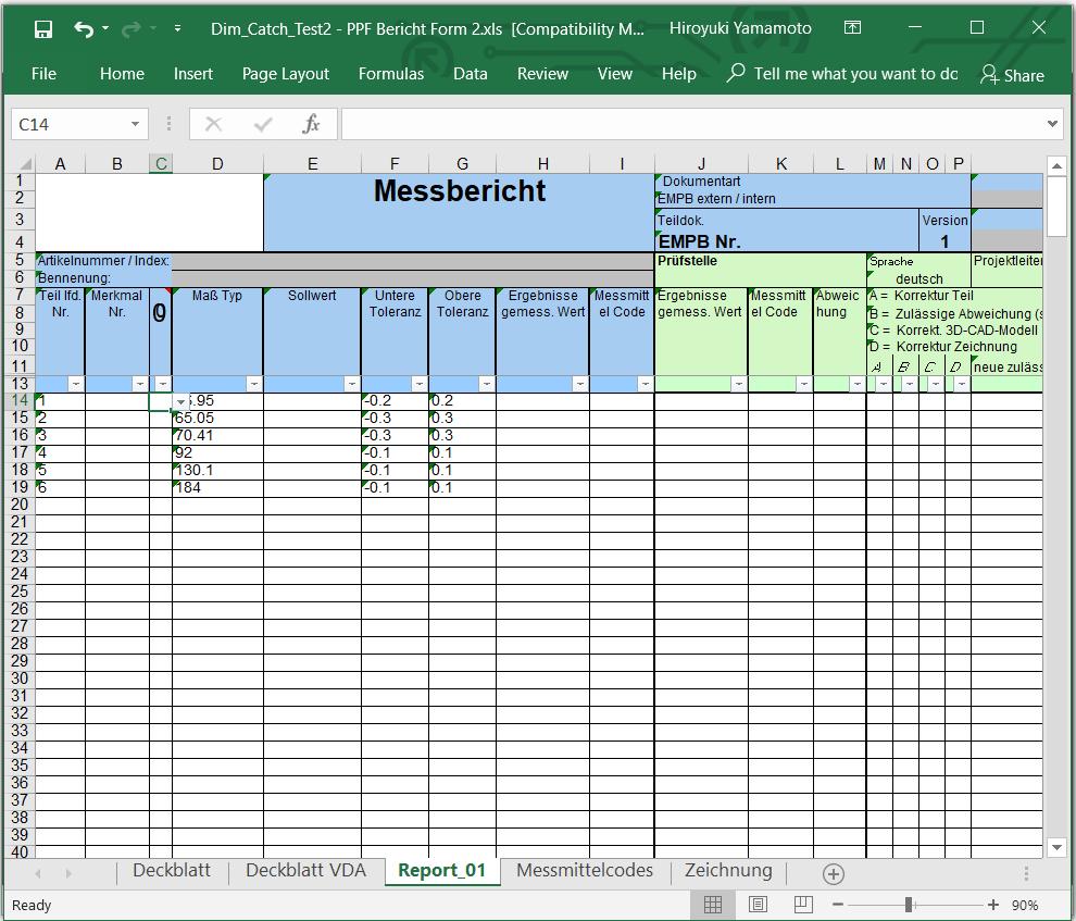 Erstmusterprufbericht Vda Vorlage Excel Kostenlos Herunterladen