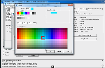 Apply colors to corresponding feature attributes - Arcv2CAD