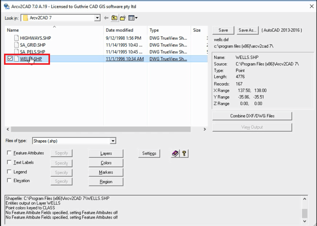 Convert Shapefile attributes to DWG/ DXF Annotation
